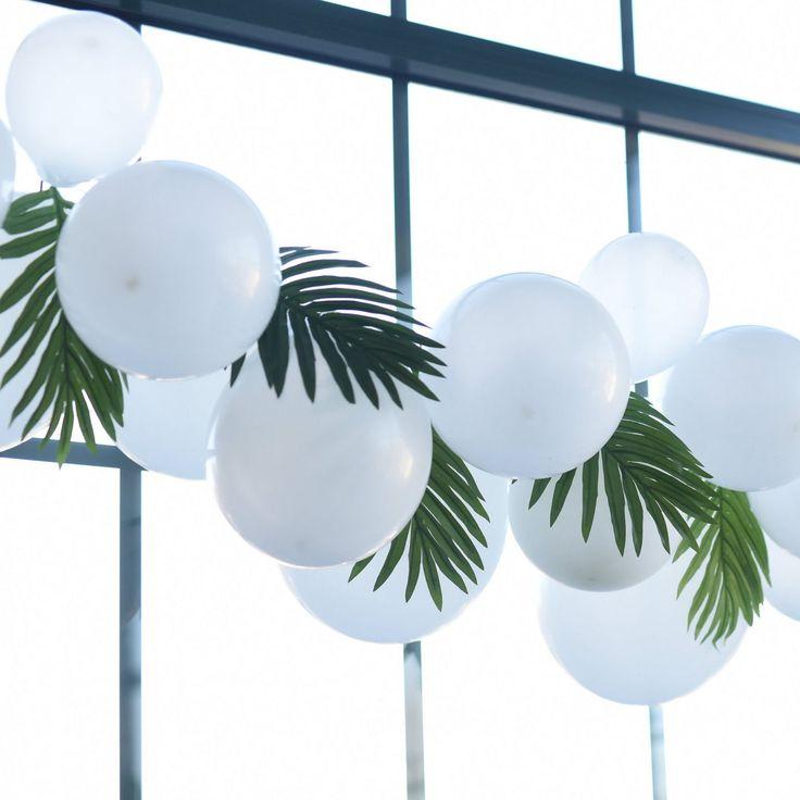 White Balloon Garland