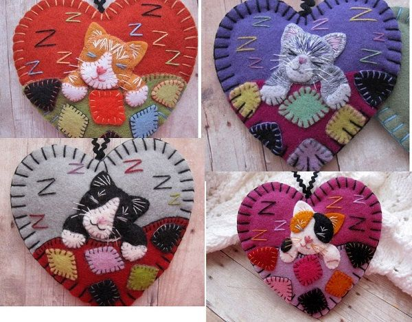 Made to Order Napping Kitten Ornaments Choose par SandhraLee
