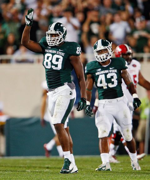 Shilique Calhoun ranked No. 8 college football player by ESPN, Connor Cook ranked No. 12 | MLive.com