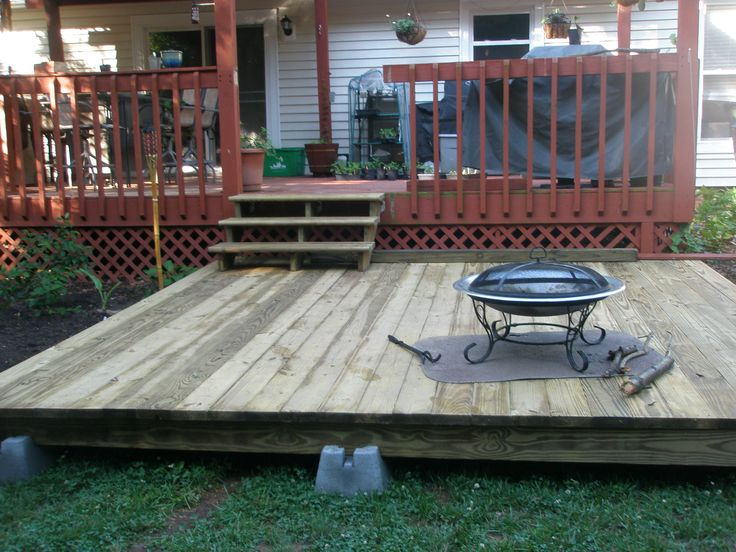 10 best platform deck images on pinterest backyard decks for Platform deck plans