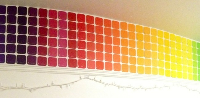 Dorm Room Revamp: Paint Chip Walls | Dormify