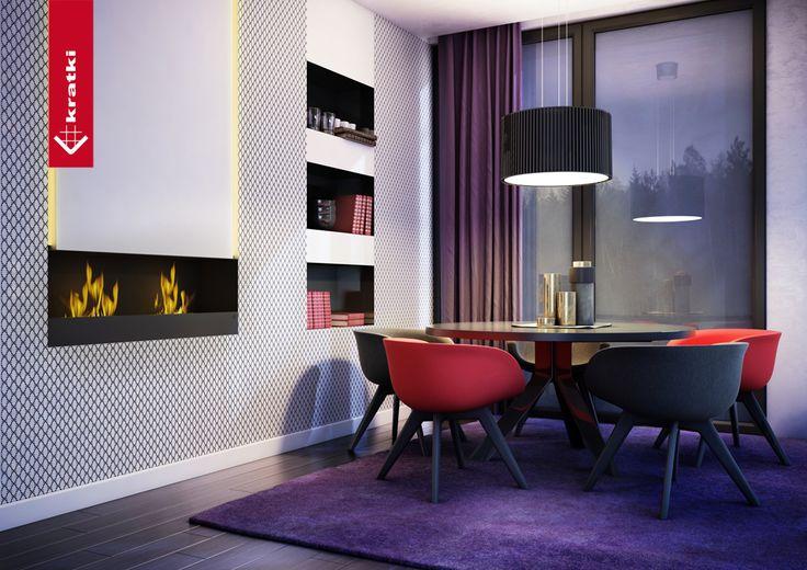 Biofireplace Quebec #kratki #biofireplace #modern #interior #salon #black
