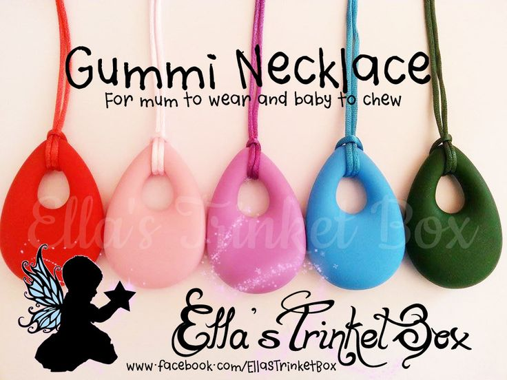 Gummi Nursing/Teething Necklaces - Perfect for fiddly babies! ♡  Find it at https://www.facebook.com/EllasTrinketBox