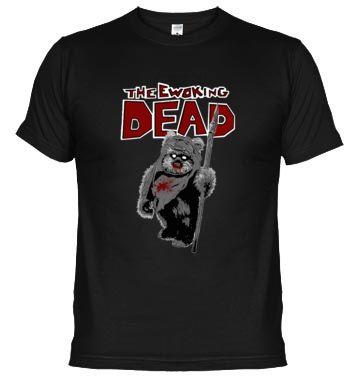 Camiseta divertida de Ewok y Walking Dead