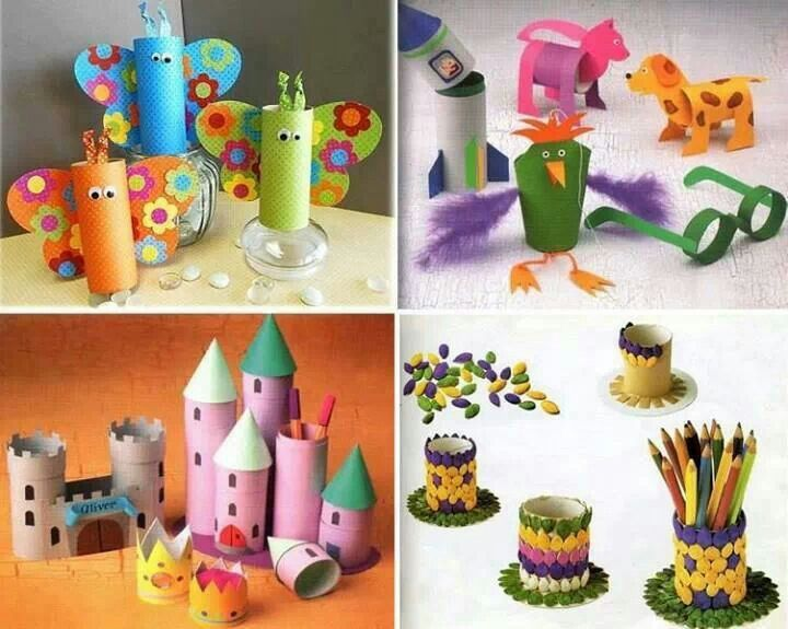 DIY Projects for children with toilet paper  rolls