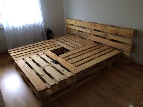 Bett Aus Europaletten Zukünftige Projekte In 2018 Bed Bedroom Und Pallet Beds