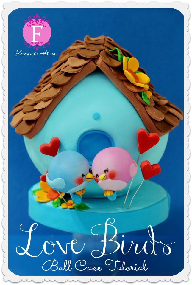 Fernanda Abarca Cakes - adorable lovebirds