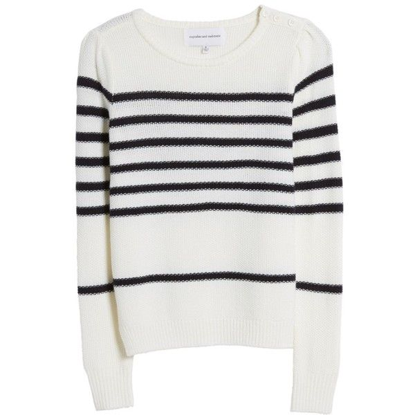Women's Cupcakes And Cashmere Pardee Sweater ($105) ❤ liked on Polyvore featuring tops, sweaters, ivory, intarsia sweater, wool blend sweater, cupcakes and cashmere, winter white sweater and ivory top