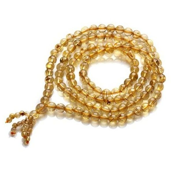O-stone 2A Golden Venus Hair Rutilated Quartz Crystal Bracelet 108... ($265) ❤ liked on Polyvore featuring jewelry, bracelets, beaded bangles, stone jewellery, stone bangles, beading jewelry and crystal beads jewellery