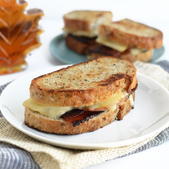 This Muenster, Apple, and Maple Bacon Grilled Cheese recipe takes the traditional grilled cheese sandwich up a few delicious and addicting notches!