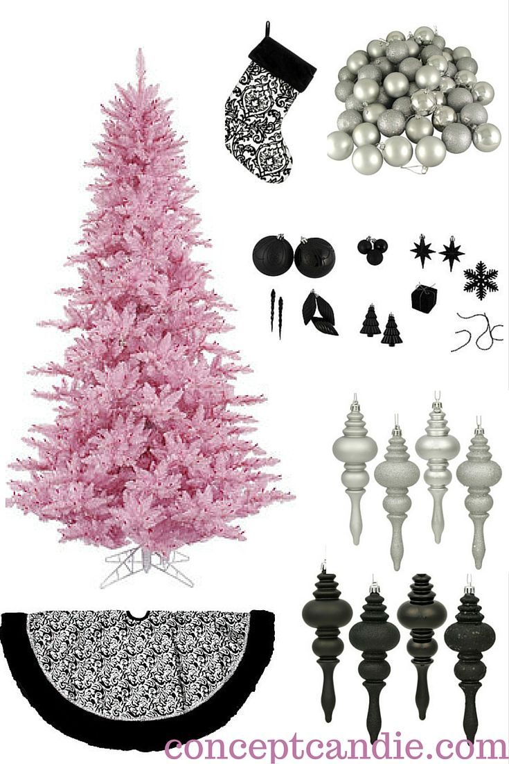 Pink and black christmas tree decorations - Chic Pink Christmas Decorations Designer Approved Christmas Decor Light Pink Christmas Tree Silver