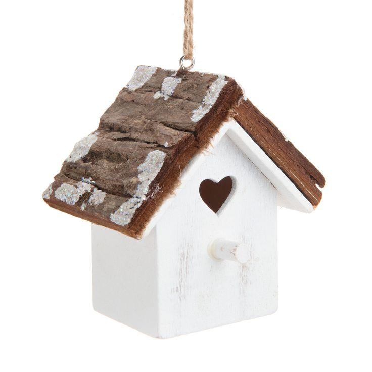Decorazione chalet di montagna con cuore per albero di Natale   - Venduto x 6