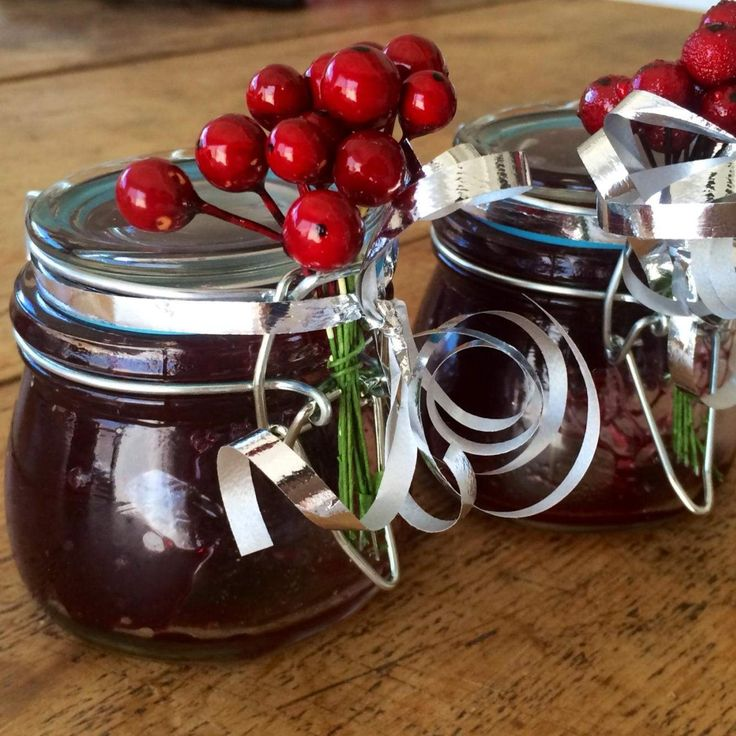 Recipe Festive Cherry Jam by Kate Haberfield - Recipe of category Sauces, dips & spreads
