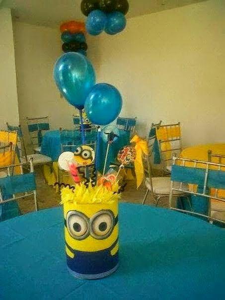 centros de mesa con globos de minions - Buscar con Google