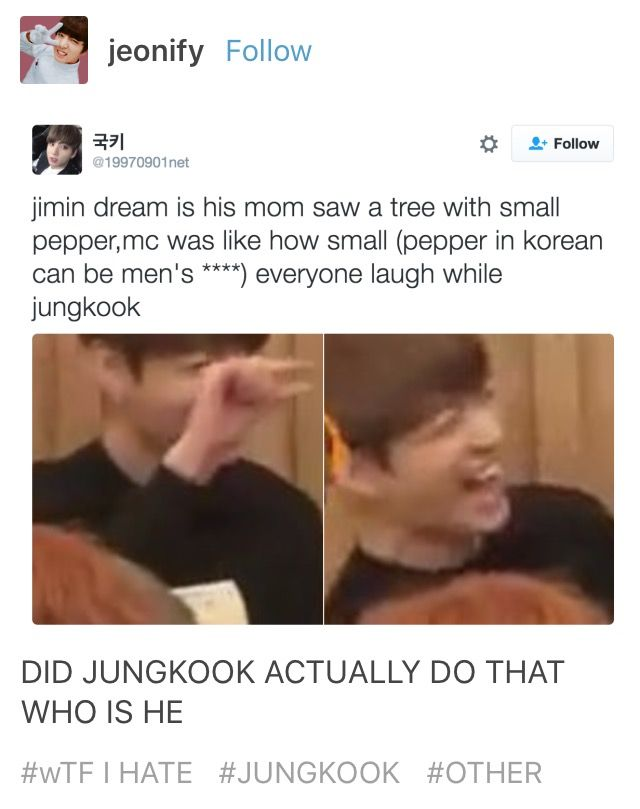 I love how jungkook found that dick joke hilarious
