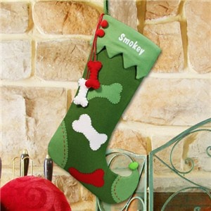 Personalized Dog Christmas Stocking | Embroidered Dog Christmas Stocking