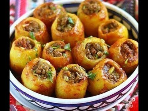 Картошка с мясом .Фаршированный картофель
