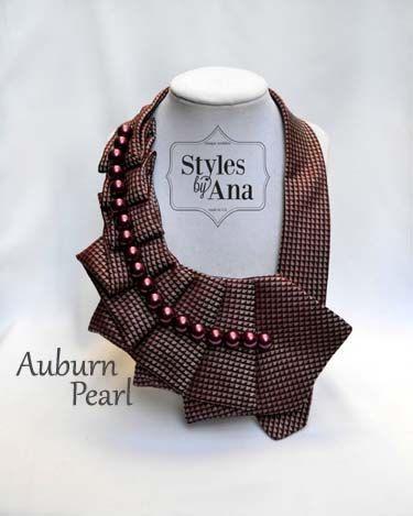 Silk Necktie Necklace Unique Necktie Art with by stylesbyana