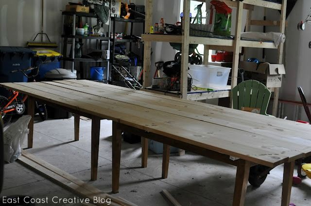 Make your own farmhouse table the easy way for 10 foot farmhouse table plans