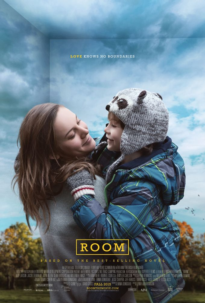 Brie Larson in 'Room'. It's a tearjerker, highly emotional with great performances from Larson herself and surprisingly new comer Jacob Tremblay. A work of art, mixing sound and visual camera work to
