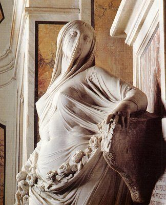 La Cappella Sansevero-Neapolis: This entire sculpture is carved from marble, including the veil.