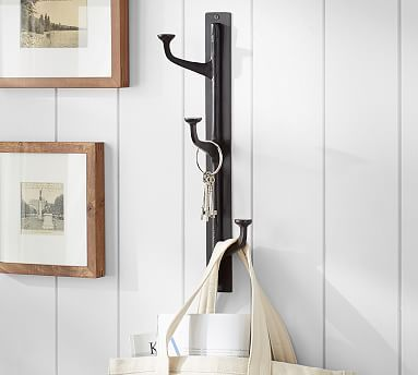 Antique Bronze Vertical Wall-Mounted Hooks #potterybarn would be great in our master bath #mypotterybarn