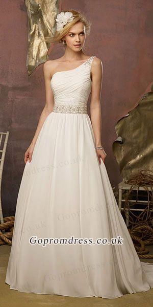 25 best one shoulder dresses ideas on pinterest for Over the shoulder wedding dress