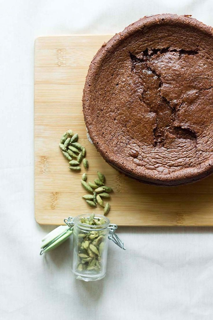 Cardamom Chocolate Mousse Cake (dairy and gluten free!)