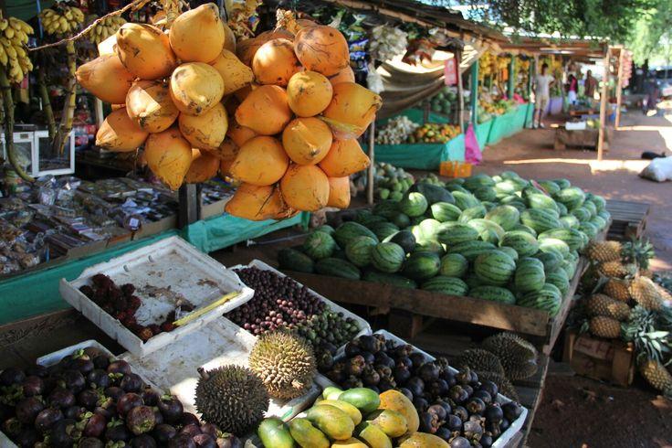 Obststände auf Sri Lanka