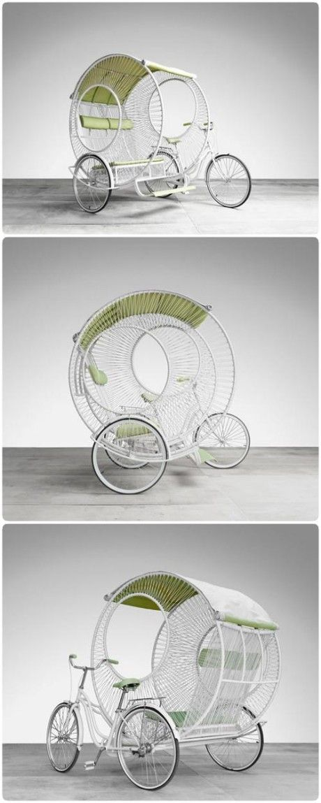 Top Creative Works » Three-wheeled rickshaw and lots of other cool ideas on this website