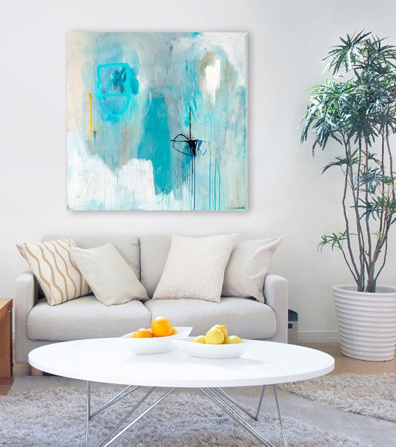 Giclee print, large abstract painting, fine art print on canvas or paper. This is a fine-art quality Giclee print of my original abstract