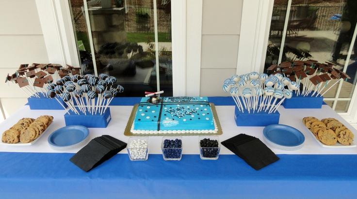 Graduation dessert table