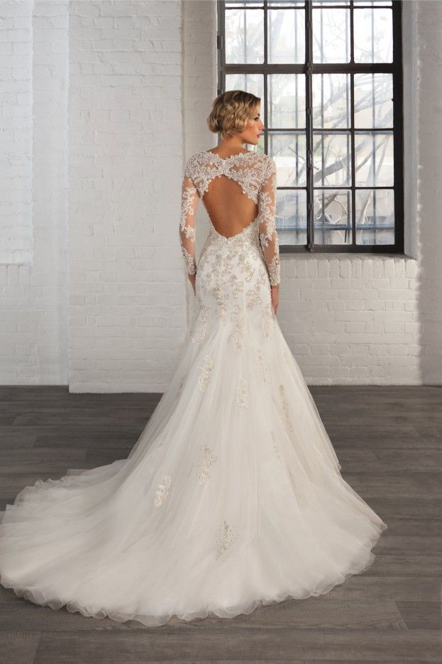 Th Elegant New Wedding Dress Collection From Cosmobella Features Stunning Illusuion Lace Details And Tulle