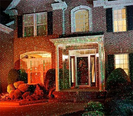 Star Shower - Christmas lights projector will cover your entire home with thousands of stars.