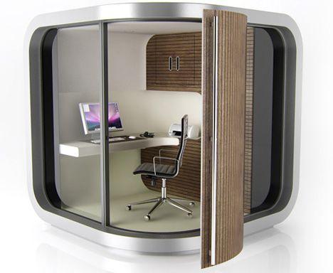 prefab modular home office design http://dornob.com/pick-a-corner-cool-creative-prefab-home-office-pod/