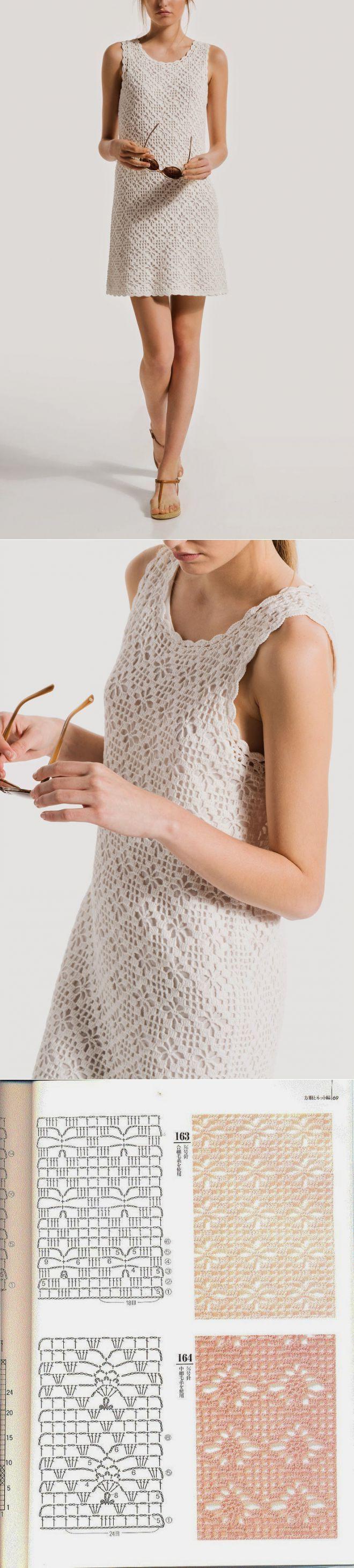 Crochetemoda: Vestido Branco de Crochet | Вязание для детей | Постила