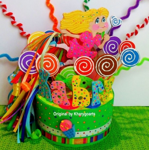 CANDYLAND CAKE/CUPCAKE TOPPER OR BIRTHDAY CENTERPIECE FOR BOY/GIRL