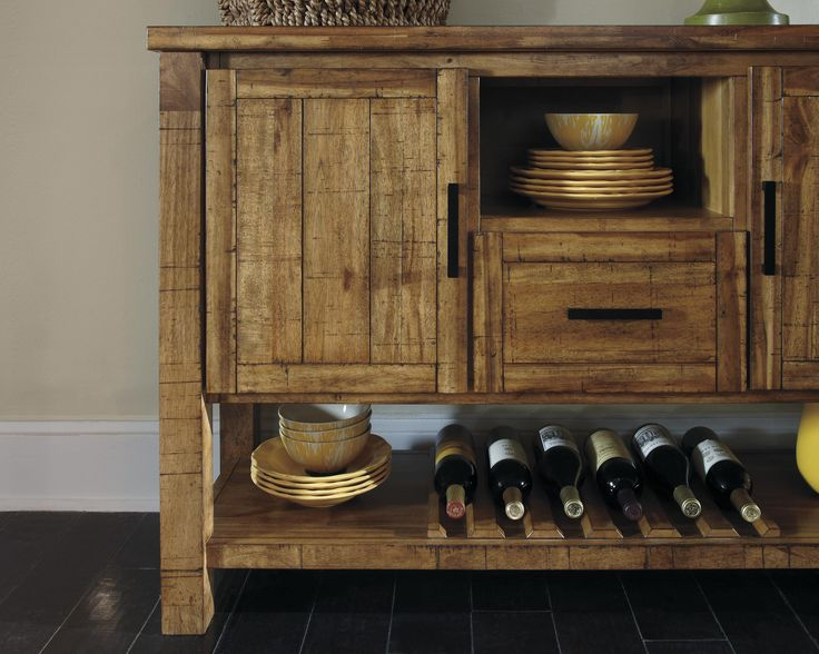 Signature Design By Ashley Krinden Rustic Dining Room Server With Wine Rack    Furniture Superstore   Part 96