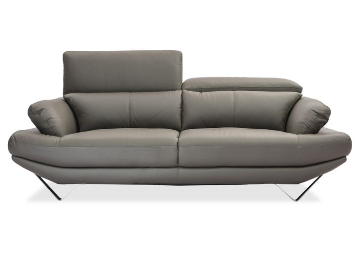 The Omega 3 Seater Leather Sofa is cushioned in premium foam encased in a luxurious Battleship grey finish Leather with detailed stitching.