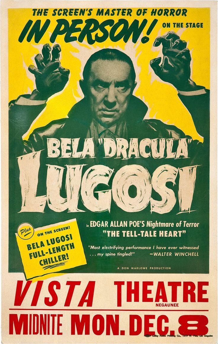 Bela Dracula Lugosi, In Person, Vista Theatre.