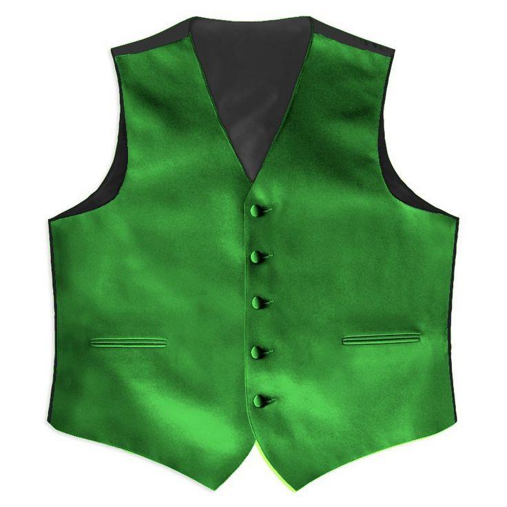 Aliexpress.comの から の中の夏の男の子2014年スタイルクールサテン緑の結婚式のベスト紳士服メンズ/promのスーツのための結婚式のチョッキ新郎5ボタン( ベストのみ)
