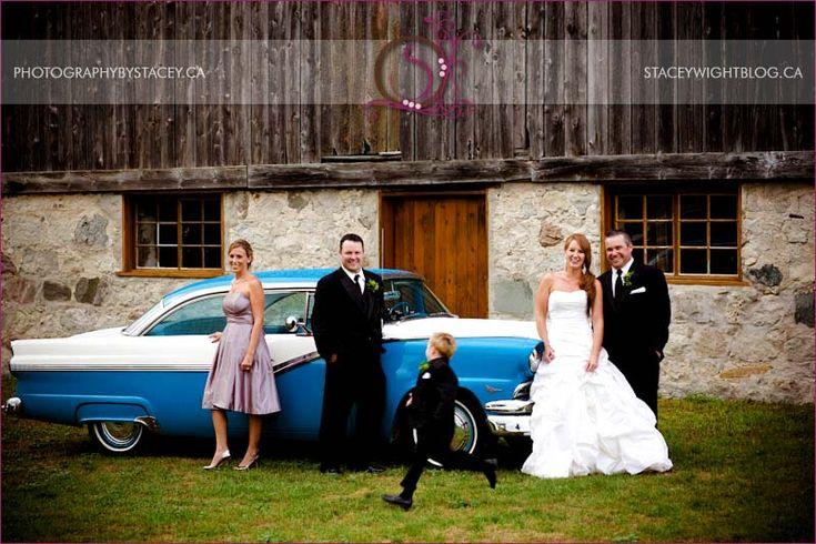 Barn Wedding - the wedding party.