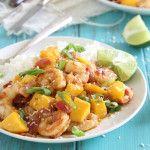 Sweet and spicy mango shrimp