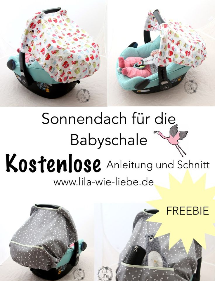 """Sonnenschutz für Babyschale """"Sonnendach"""" nähen – Freebook"""