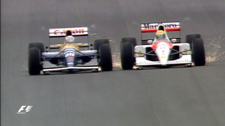 Your Favourite Spanish Grand Prix - 1991 Mansell & Senna - YouTube