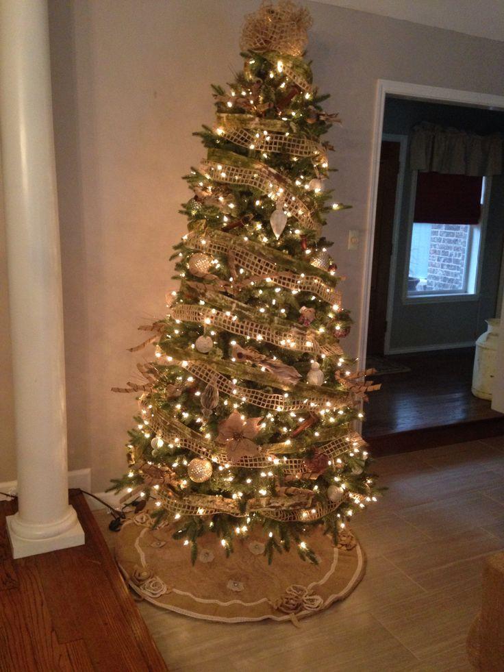 Burlap Christmas Tree | Holidays | Pinterest