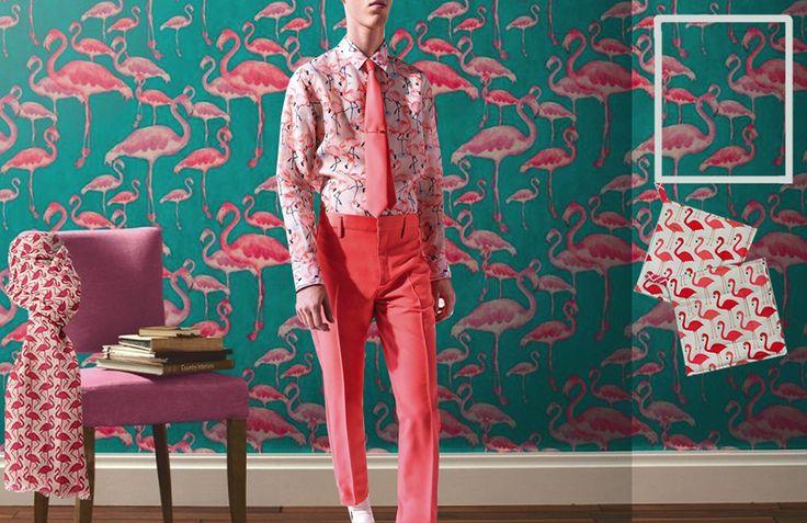 Exotica: wilde prints voor de lente van 2016 #trends #tropical #prints #patterns #SS16 #spring #flamingo