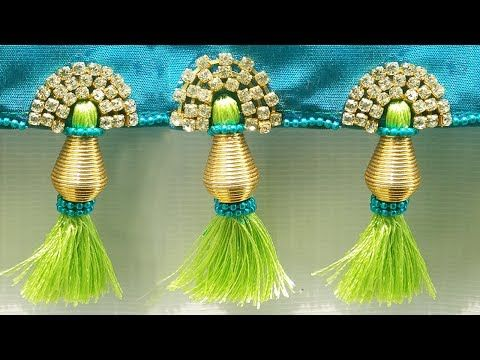 How to make saree kuchu , tassels easily at home, silk thread saree tassels l saree kuchu design# 27 - YouTube