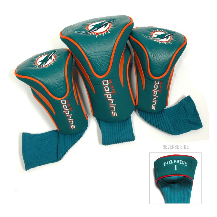 Team NFL Miami Dolphins Contour Wood Headcover Set