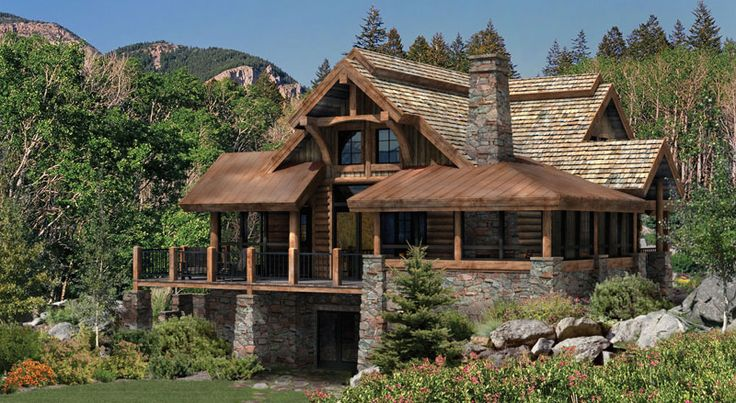 Log+Cabin+Homes | Alderbrook Log Home Floor Plan - A Log Home for the Great Outdoors